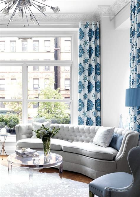 Blue Drapes For Living Room The 23 Best Images About Blue And White Curtains On