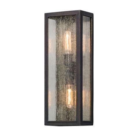 troy lighting dixon 2 light vintage bronze outdoor wall