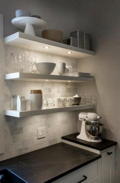 floating shelves with lights underneath 27 cool ikea lack shelf hacks comfydwelling com
