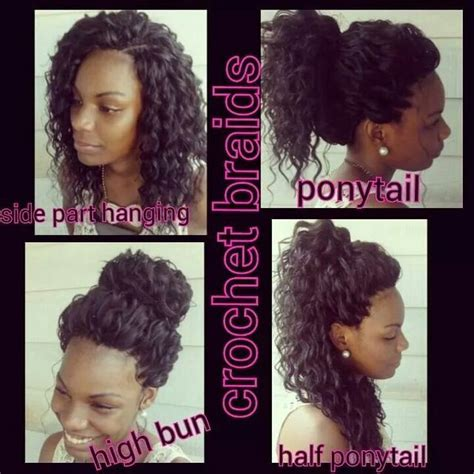 crochet hairstyles for prom crochet braids with freetress water wave in color 1b 30