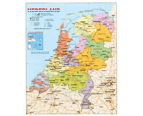 political map of the netherlands maps of netherlands detailed map of netherlands