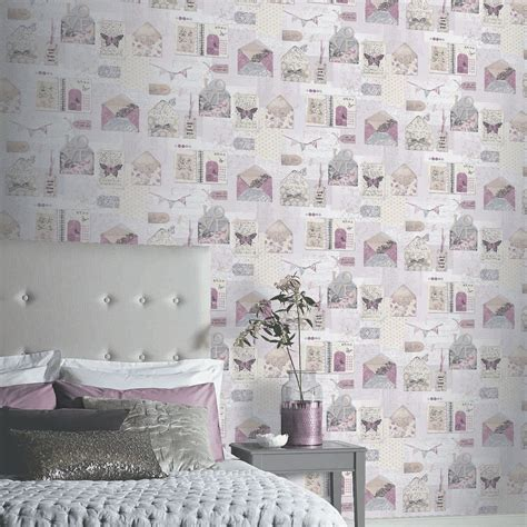 Wallpaper 10m Bunga Shabby shabby chic floral wallpaper in various designs wall decor new free p p ebay