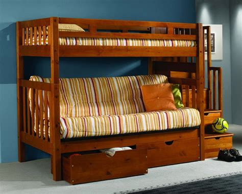 wood bunk bed with futon futon bunk bed wood