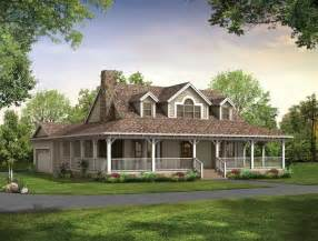 One Story House Plans With Wrap Around Porches by Single Story Farmhouse With Wrap Around Porch Square