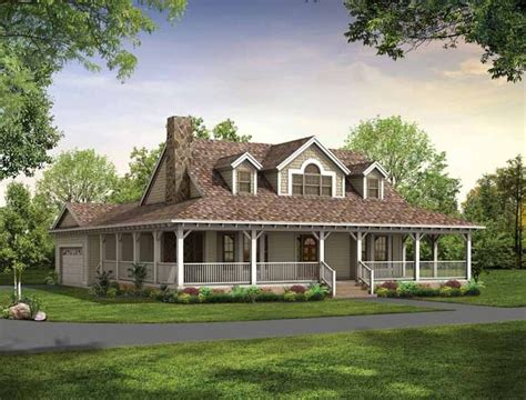 Country Farmhouse Floor Plans by Single Story Farmhouse With Wrap Around Porch Square