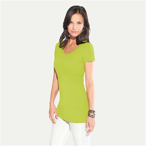 Sale O Neck Slim Shirt slim fit v neck t shirt quot lang quot damen sale