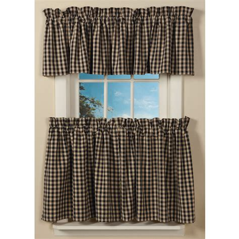 Kitchen Setting Ideas by Classic Country Check Curtains Sturbridge Yankee Workshop