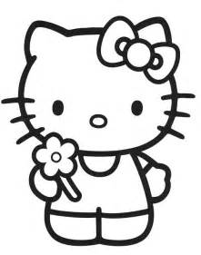 kitty dibujos imprimir colorear lamina 1