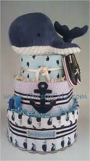 Nautical Themed Boys Room - whale diaper cake baby room pinterest