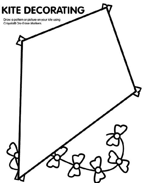 free printable coloring page of a kite kite coloring page crayola com