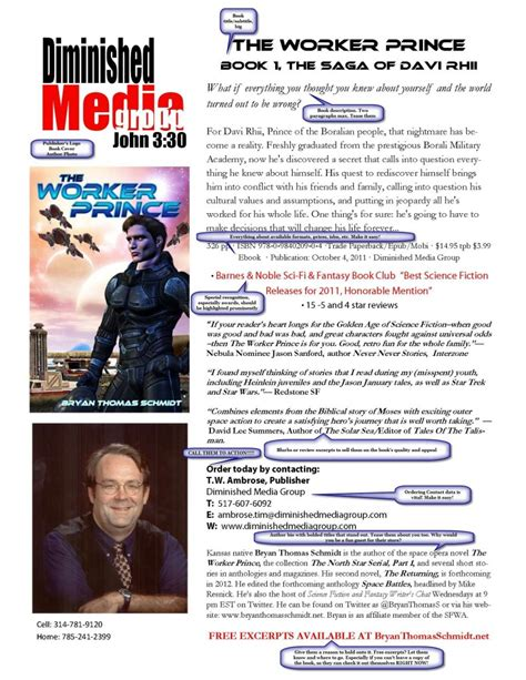 Write Tip Why Your Book Needs A Sell Sheet How To Make One Bryan Thomas Schmidt Author Book Sell Sheet Template