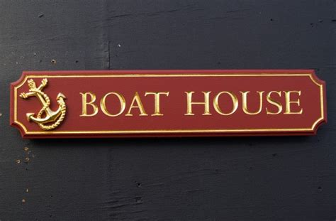 boat house sign boat house quarterboard danthonia designs usa