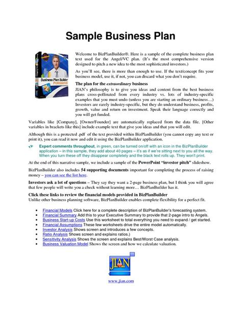 step by step business plan template best 25 business plan sle pdf ideas on
