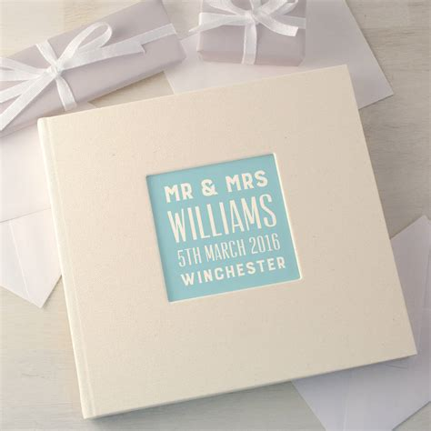Wedding Guest Book Design by Personalised Typographic Wedding Guest Book By Made By