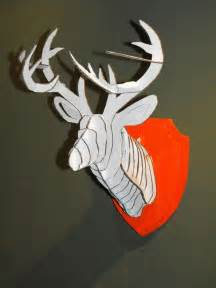Cardboard Trophy Template by 3d Cardboard Duct Deer Trophy With Template
