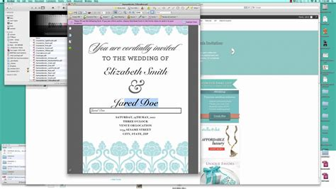 How To Make Your Own Wedding Invitation Free Template Tutorial Youtube How To Create A Template In