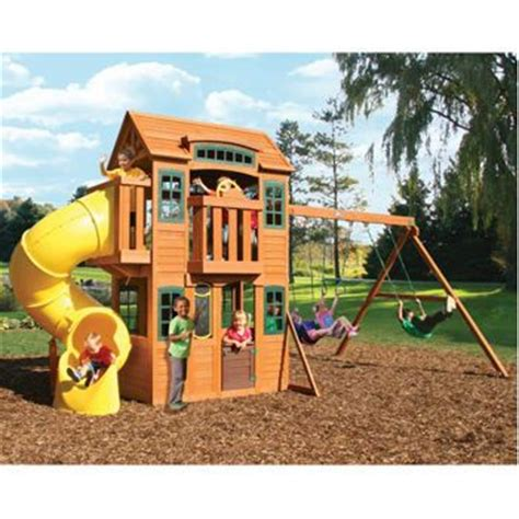 costco wooden swing sets costco cedar summit cedarvalley lodge premium play set