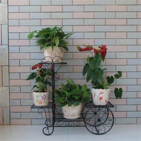 indoor plant displays flower pots garden trends black bicycle large 3 pots plant planter herbs flower