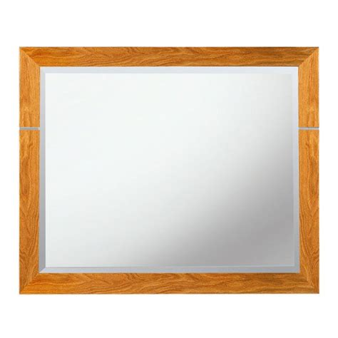 imperial cuda bathroom mirror 710 x 570mm oak