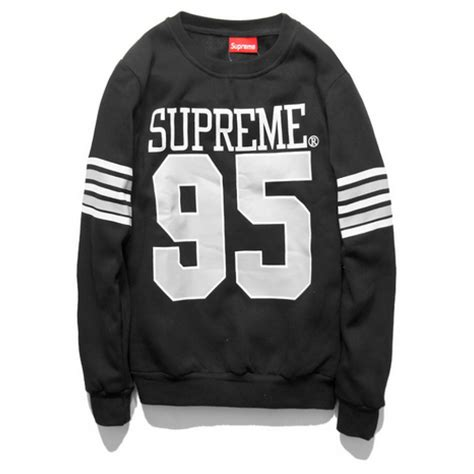 Switer Hoodie Supreme supreme 95 sweater black supreme 95 sweater black 027491
