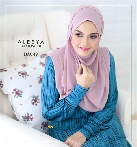 Blouse Aleeya blouse lycra aleeya mesra penyusuan blouse sahaja
