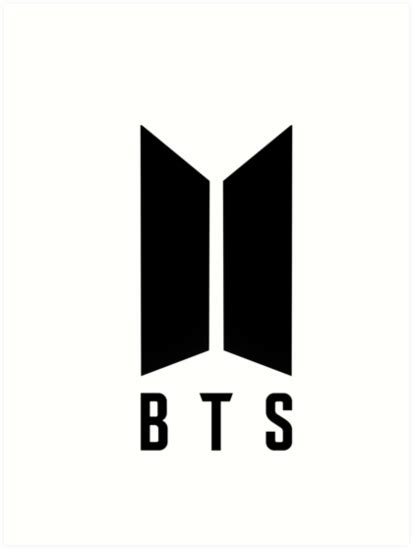 bts new logo quot bts new logo quot art prints by redkpopstore redbubble