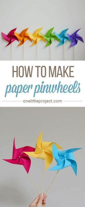 How To Make A Paper Pinwheel That Spins - 25 best ideas about pinwheel craft on paper