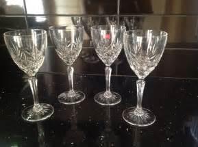crystal wine glasses cut glass crystal wine glasses x 4 cristal d arques 163