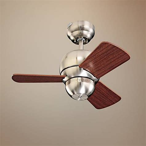 24 quot micro brushed steel finish ceiling fan 42117