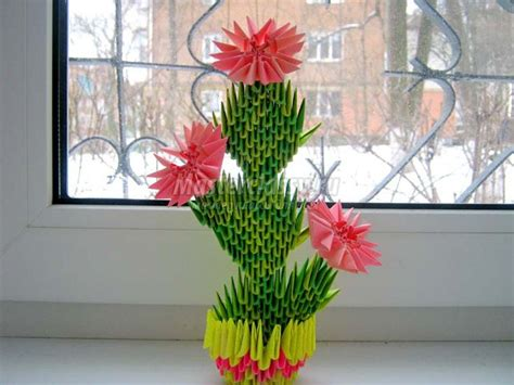 3d Origami Flower Pot - 141 best images about 3d origami on