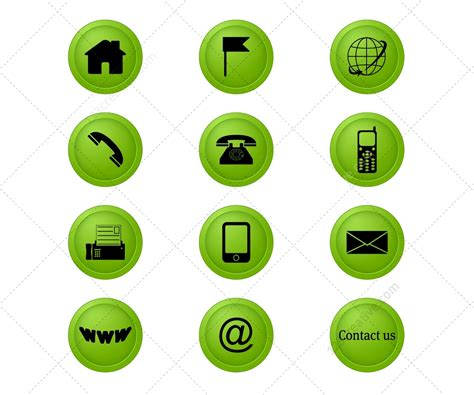 Www Address Contact Icons Set 123creative