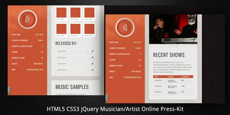 band press kit template artist epk template bf digital printing