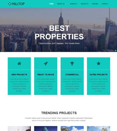 Latest Real Estate Website Templates Free Download Webthemez Html Template Free