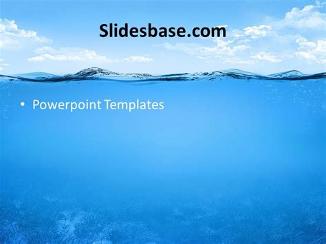 powerpoint templates free download ocean underwater ocean powerpoint template slidesbase