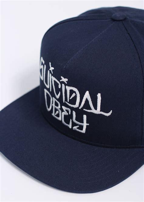 Topi Suicidal Tendencies Snapback 1 obey x suicidal tendencies suicidal snapback cap navy blue