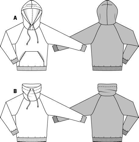 sweatshirt pattern burda burda 6718 men s pullover hoodie sewing pattern