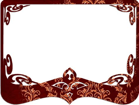 decorative border in photoshop free illustration frame red decorative border free