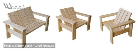 fauteuil bois exterieur fabriquer un banc en bois exterieur mzaol