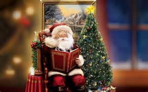 christmas santa claus with tree background gallery