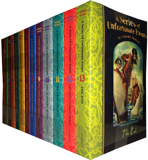 in celebration of books a series of unfortunate events 13 books set lemony snicket