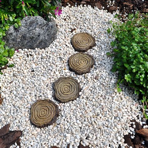 Garden Stepping by Miniature Garden Stepping Stones Tree Stump Set Of