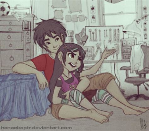 big 6 and wreck it ralph crossover vanellope hiro