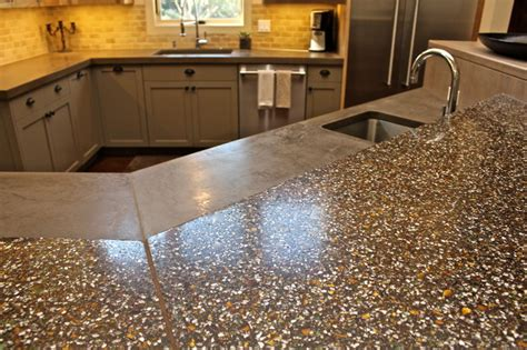 Concrete With Glass Countertop by Recycled Glass Concrete Countertop Custom Colors