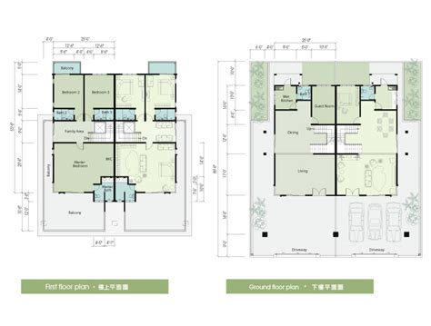 semi detached floor plans semi detached house plan