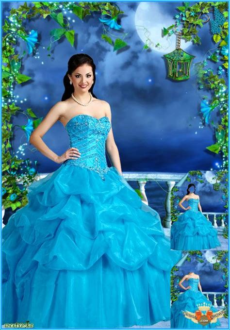 Background Foto Girly Magic Studio awesome blue dress psd template for charming
