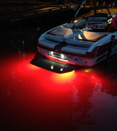 installing led boat deck lights lifeform 6 underwater led boat light boating wakeboard