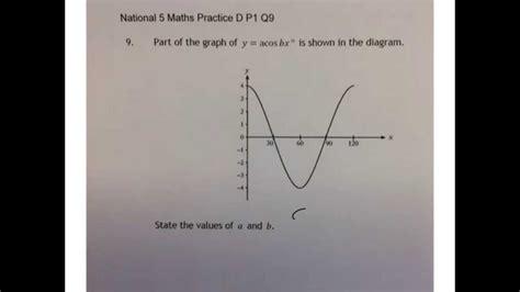 national 5 maths practice 0008209081 trigonometry national 5 maths practice d p1 q9 a youtube