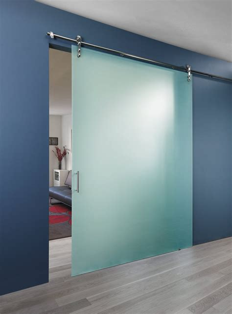 frosted glass barn door traditional bathroom design with