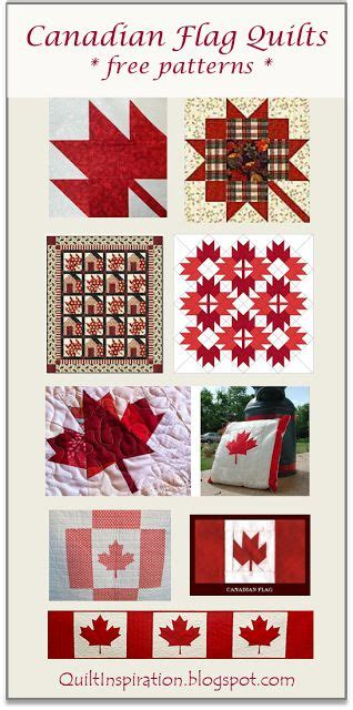 patterns sewing canada free pattern day canadian flag quilts maple leaf blocks