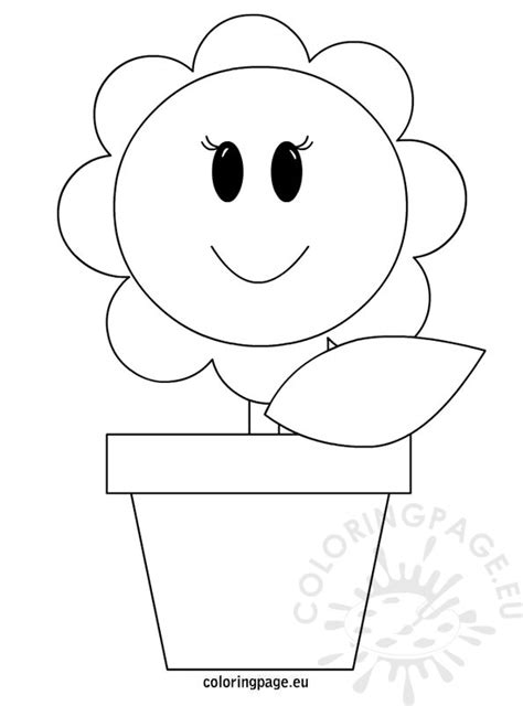 coloring pictures of flowers in a vase vase with flower coloring page
